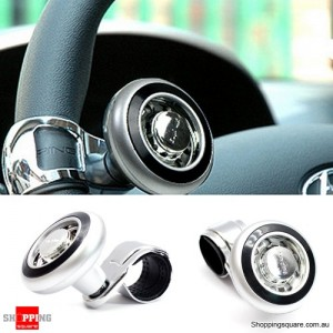 Universal Hand Control Car Steering Wheel Knob Ball Silver+Black Colour