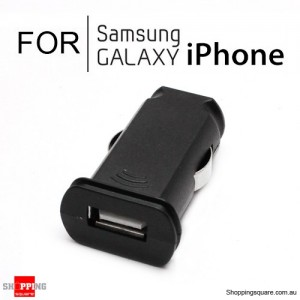 Flat Micro USB Car Charger 1A for iPhone Samsung Galaxy Black Colour
