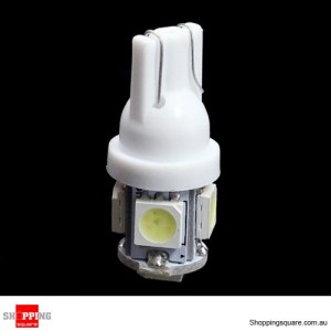 T10 Xenon LED Light bulbs - Wedge 5-SMD 5050 501