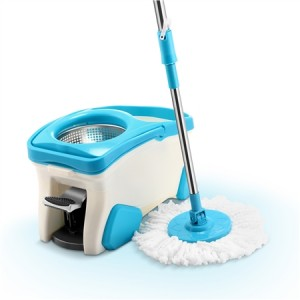 360 Degree Spin Mop & Stainless Steel Dry Bucket with 3 Free Mop Heads