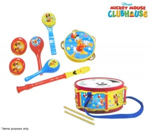 Mickey Mouse Clubhouse Party Band 10-Piece Musical Toy Set