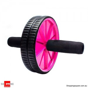 Professional Abdominal Exercise Fitness Wheel Roller with Knee Pad Pink Colour