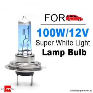 H7 Super White Headlight Xenon Halogen Globe Light Lamp Bulb 100W 12V