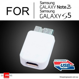 Micro USB 3.0 to Micro USB Converter adapter for Samsung Galaxy Note 3 S5 White Colour