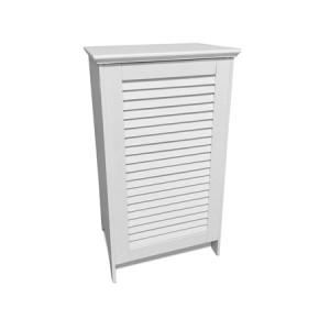 Wooden Laundry Hamper - White