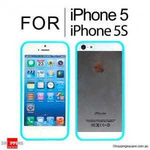 Hard Transparent Back Case Cover for iPhone SE 5S 5 Blue Colour