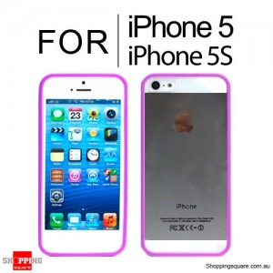 Hard Transparent Back Case Cover for iPhone SE 5S 5 Purple Colour