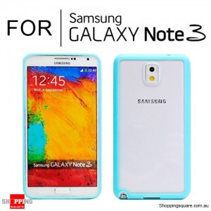 Hard Transparent Back Case Cover for Samsung Galaxy Note 3 N9000 Blue Colour