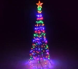 Giant Multi-Colour LED Christmas Tree -2.2M