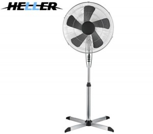 Heller 45cm Large Pedestal Fan with Oscillating Head