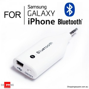 Mini 3.5mm Wireless Bluetooth Receiver for iPhone Samsung Galaxy White Colour
