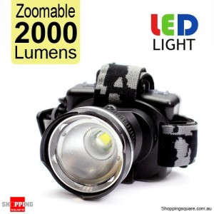 Zoomable 2000LM CREE XML-T6 LED Headlamp