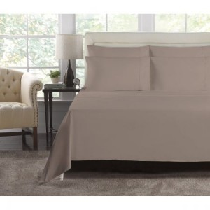 Single Bed Latte 1000 Thread Count Luxury Fitted Sheet Set