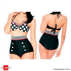 Retro Swimsuit Swimwear Push Up Size 8