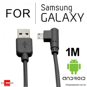 Premium 1m USB to Micro USB Data Sync Charging Cable for Samsung Galaxy Android Black Colour