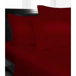 King Bed Microfibre Red Fitted Sheet Combo Pack