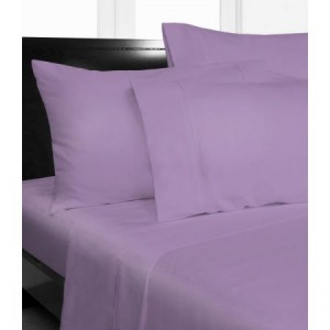 Single Bed Microfibre Lilac Fitted Sheet Combo Pack