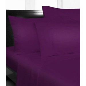 Single Bed Microfibre Purple Fitted Sheet Combo Pack