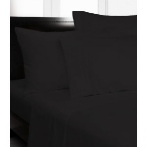 Single Bed Microfibre Black Fitted Sheet Combo Pack