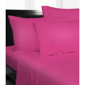 Single Bed Microfibre Hot Pink Fitted Sheet Combo Pack