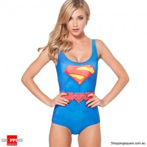Women Hot Sexy One-piece Monokini Swimwear Superman