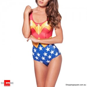 Women Hot Sexy One-piece Monokini Swimwear Superwoman Wonderwoman