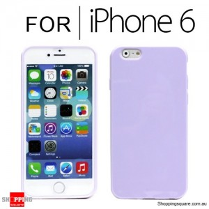 New Soft Gel Case Cover for iPhone 6S/6 4.7 inches Purple Colour