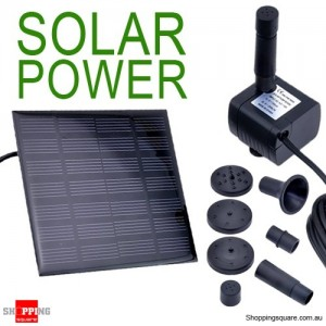 Solar Power Fountain Garden Pond Pool Water Feature Pump Kit Panel