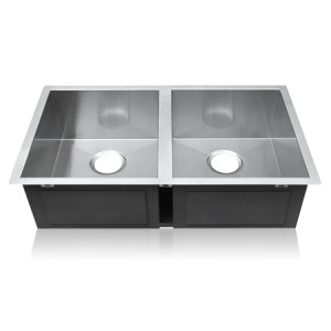 Double Cube-Shaped Stainless Steel Sink