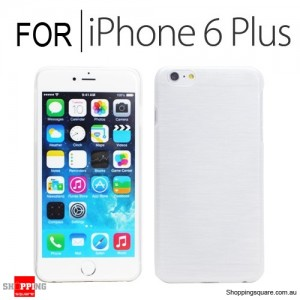 New Hard Brushed Back Case Cover for iPhone 6 Plus/6S Plus 5.5 inches White Colour