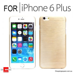 New Hard Brushed Back Case Cover for iPhone 6 Plus/6S Plus 5.5 inches Gold Colour