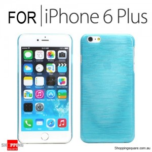 New Hard Brushed Back Case Cover for iPhone 6 Plus/6S Plus 5.5 inches Blue Colour