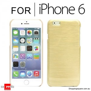 New Hard Brushed Back Case Cover for iPhone 6S/6 4.7 inches Gold Colour