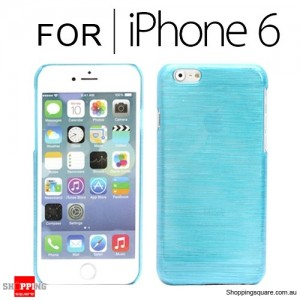 New Hard Brushed Back Case Cover for iPhone 6S/6 4.7 inches Blue Colour