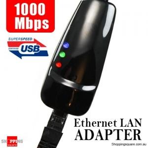 USB 3.0 to Gigabit RJ45 Ethernet LAN Adapter 1000Mbps for PC Laptop Mac