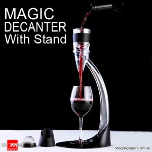 NEW Magic Decanter RED Wine Deluxe Aerator with Stand and Gift Box