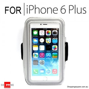 Sports Armband Case for iPhone 6 Plus/6S Plus 5.5 inches Silver Colour