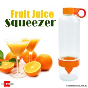 Fruit Press Juicer Citrus Lemon Orange Juicing Infuser Bottle Orange Colour