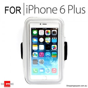 Sports Armband Case for iPhone 6 Plus/6S Plus 5.5 inches White Colour