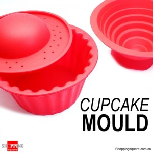 Silicone Big Top Cupcake Mould Red Colour
