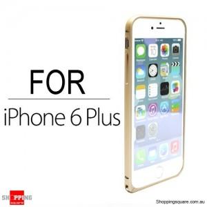 Slim Aluminum Bumper Frame Case for iPhone 6 Plus/6S Plus 5.5 inches Gold Colour
