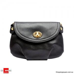 Women Leather Shoulder Handbag Wallet Black Colour
