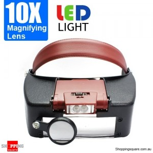 10X Magnifying Lens Headset with LED Light