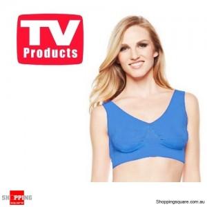 Deep Blue Colour Pack of Seamless Bra's Genie Style Size 22 - Shapewear