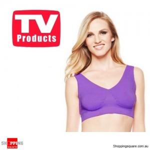Purple Colour Pack of Seamless Bra's Genie Style Size 16 - Shapewear