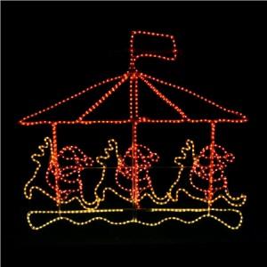 Flashing Santa Christmas Lights