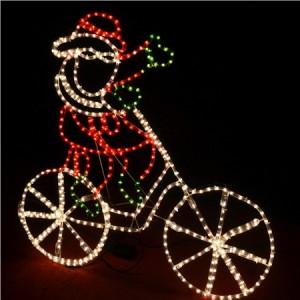 Santa Riding Bicycle Christmas Lights