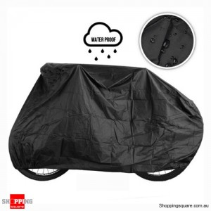 Outdoor Dust Rain Waterproof Cover For Bicycle Black Colour