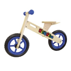 Blue Wooden Balance Bike
