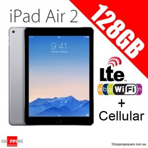 Apple iPad Air2 128GB 9.7inch Wifi+Cellular Tablet 4G LTE Grey